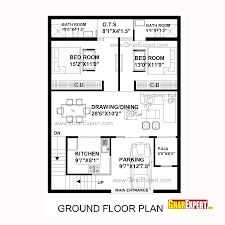 house plan for 30 feet by 40 feet plot plot size 133 square yards