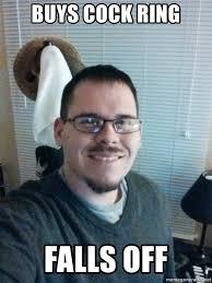 Aaron Meme - buys cock ring falls off bad luck aaron meme generator