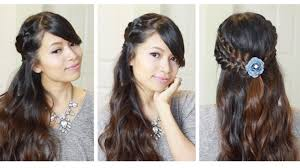 holiday half updo braided hairstyle hair tutorial youtube