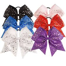 hair ribbons foil dot cheer bow cheer bows hair bows gymnastics hair bow