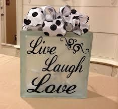 2016 valentine u0027s day live laugh love decorative glass block