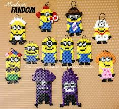 minion perler bead ornaments set of 12 by madamfandom