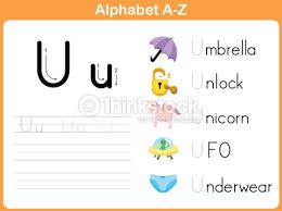 alphabet tracing worksheet writing az vector art thinkstock