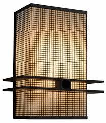 Midcentury Modernism - 7766 cb8 stch p ba square mesh wall sconce adg mid century