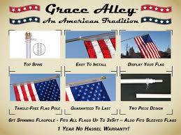 Flags And Flagpoles Flag Pole Silver Tangle Free Flag Pole By Grace Alley American
