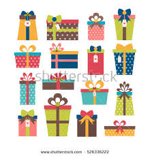 wrapped christmas boxes set different gift boxes colorful wrapped stock vector 526336222