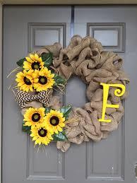 burlap sunflower wreath simple but attractive sunflower wreaths home design by