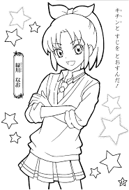 kawaii manga anime coloring pages womanmate com