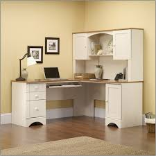 Sauder Harbor View Corner Computer Desk Antiqued White Finish Sauder Harbor View Computer Desk With Hutch Antiqued White