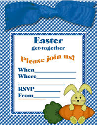 Get Together Party Invitation Card Easter Colouring Fill In The Blanks Printable Party Invitations