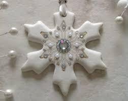 clay snowflake etsy