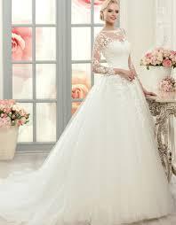 aliexpress com buy elegant white lace ball gown wedding dresses