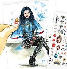 amazon com disney descendants evie fashion design watercolor