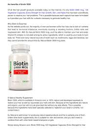 calaméo the benefits of biotin 5000 mcg 120 vegetarian capsules