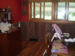 red country bricks barnboard wainscoting