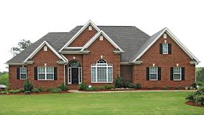 new american home plans traditional brick ranch hwbdo63914 new american from