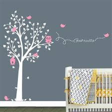 Wall Decals For Nursery Boy C199 Custom Made Brand Owl Tree Wall Sticker Tree Wall Decals