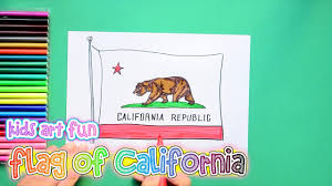 California State Flag How To Draw And Color The State Flag Of California Youtube