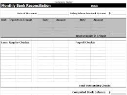 Payroll Reconciliation Excel Template Bank Reconciliation Template In Excel