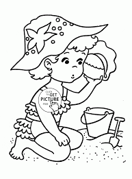little summer coloring page for kids seasons coloring pages