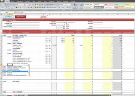 Personal Expense Report by Construction Job Costing Spreadsheet Template Expense Spreadsheet
