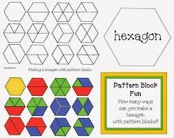 pattern practice games classroom freebies hexagon pattern block game