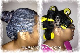roller set relaxed hair wash day in mini braids moisture roller set