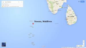 Map Of Maldives Noonu Map