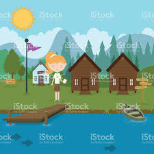 summer c cabins summer c stock vector art 513316450 istock