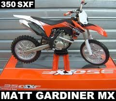cast of motocrossed ktm sxf 350 1 12 die cast motocross mx motorbike toy model new