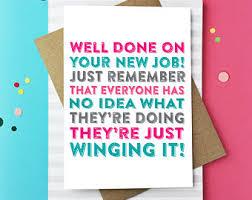 Greetings Card Designer Jobs Leaving Job Card Etsy