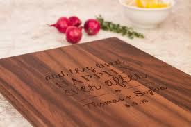 cutting board wedding gift handmade wooden cutting board personalized wedding gift