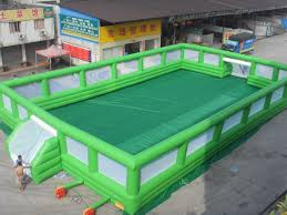 Football Field In Backyard Inflatable Soccer Court Street Soccer Arena Inflatable Football