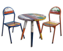 Bistro Setting Garden Recycled Outdoor Furniture - Recycled outdoor furniture