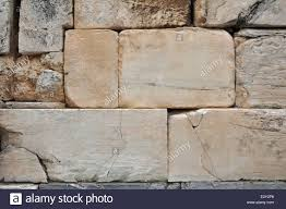 Textured Wall Background Acropolis Of Athens Textured Wall Background Cracked Marble Blocks
