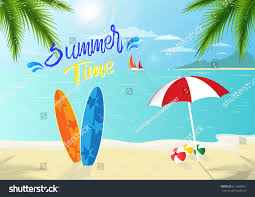 summer time background relaxing trips stock vector