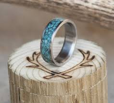 turquoise and wedding ring turquoise s or s wedding band available in titanium