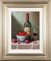 raymond campbell original oil painting on panel notes of cherry and plum