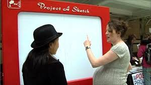 tech know giant u0027etch a sketch u0027 toy at futureeverything bbc news