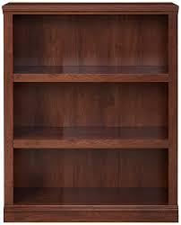 Sauder Oak Bookcase by Amazon Com Sauder 3 Shelf Bookcase Oiled Oak Finish Kitchen