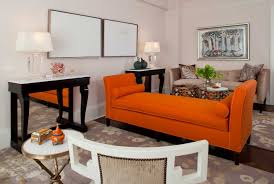 Orange Sofa Living Room Ideas Orange Leather Sofa Scottzlatef To Make Alluring Living Room