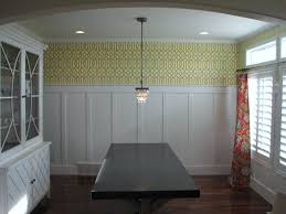 can you pair board and batten with patterned wallpaper for the