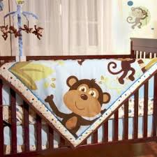 Boy Monkey Crib Bedding Baby Boy Safari Nursery Jungle Safari Brown Monkeys Baby Boys