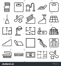 floor icons set set 25 floor stock vector 658357417 shutterstock