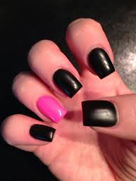 matte black u0026 pink nails nails pinterest pink nails nail
