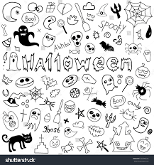 background halloween art doodle halloween holiday background halloween doodles stock vector