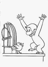 curious george play bird coloring pages