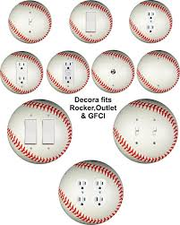 details about coloriffic baseball wall plate toggle light switch