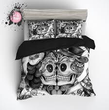 bed sugar skull bed set home design ideas