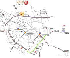 Blue Line Delhi Metro Map by Suncity Avenue 102 In Sector 102 Gurgaon Price Location Map